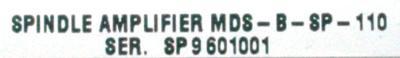 Mitsubishi MDS-B-SP-110 label image