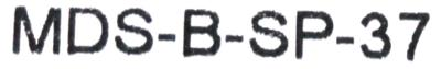Mitsubishi MDS-B-SP-37 label image