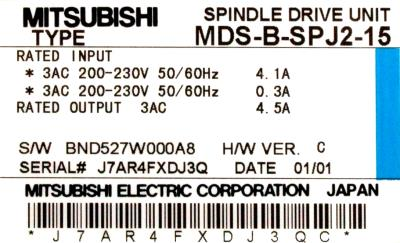 Mitsubishi MDS-B-SPJ2-15 label image