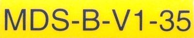 Mitsubishi MDS-B-V1-35 label image