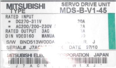 Mitsubishi MDS-B-V1-45 label image