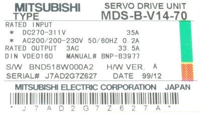 Mitsubishi MDS-B-V14-70 label image