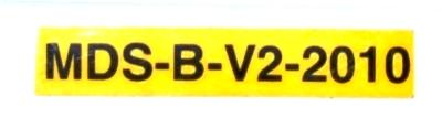 Mitsubishi MDS-B-V2-2010 label image