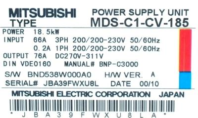 Mitsubishi MDS-C1-CV-185 label image