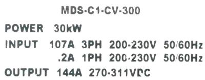 Mitsubishi MDS-C1-CV-300 label image