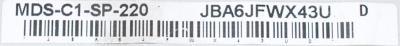 Mitsubishi MDS-C1-SP-220 label image
