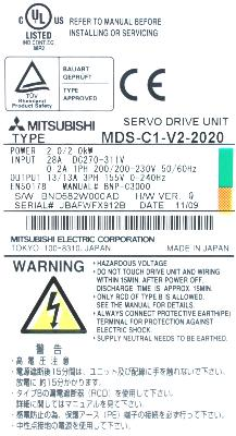 Mitsubishi MDS-C1-V2-2020 label image