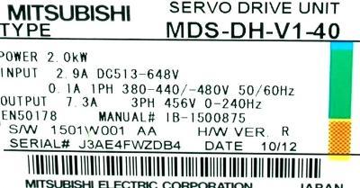 Mitsubishi MDS-DH-V1-40 label image