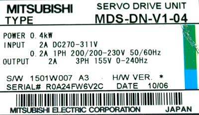 Mitsubishi MDS-DN-V1-04 label image