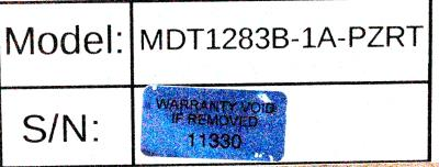 Totoku Electric MDT1283B-1A-PZRT label image