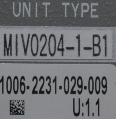 Okuma MIV0204-1-B1 label image