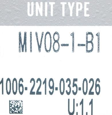 Okuma MIV08-1-B1 label image