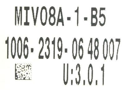 Okuma MIV08A-1-B5 label image