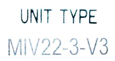 Okuma MIV22-3-V3 label image