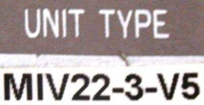 Okuma MIV22-3-V5 label image