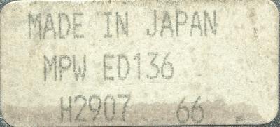 Hitachi Seiki MPWED136 label image