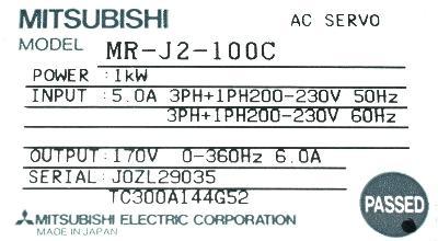 Mitsubishi MR-J2-100C label image