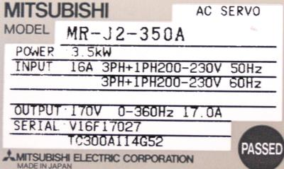 Mitsubishi MR-J2-350A label image