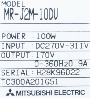 Mitsubishi MR-J2M-10DU label image
