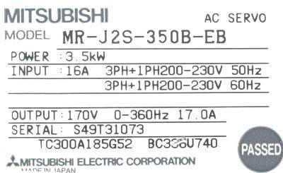 Mitsubishi MR-J2S-350B-EB label image