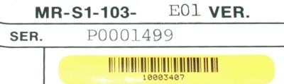 Mitsubishi MR-S1-103-E01 label image