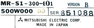 Mitsubishi MR-S1-300-E01 label image