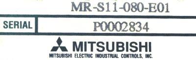Mitsubishi MR-S11-080-E01 label image