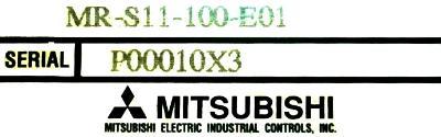 Mitsubishi MR-S11-100-E01 label image