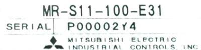 Mitsubishi MR-S11-100-E31 label image