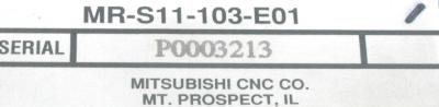 Mitsubishi MR-S11-103-E01 label image
