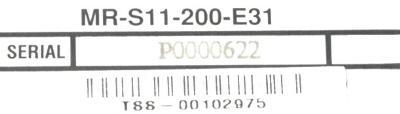 Mitsubishi MR-S11-200-E31 label image
