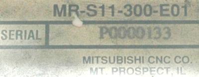 Mitsubishi MR-S11-300-E01 label image