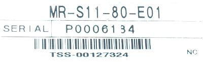 Mitsubishi MR-S11-80-E01 label image