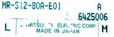Mitsubishi MR-S12-80A-E01 label image