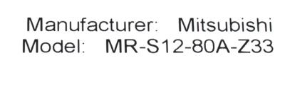 Mitsubishi MR-S12-80A-Z33 label image