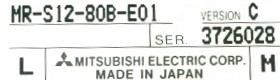 Mitsubishi MR-S12-80B-E01 label image