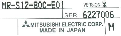Mitsubishi MR-S12-80C-E01 label image
