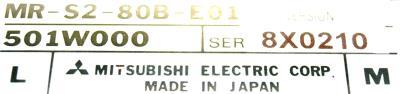 Mitsubishi MR-S2-80B-E01 label image