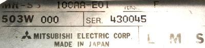 Mitsubishi MR-S3-100AA-E01 label image