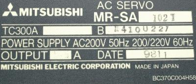 Mitsubishi MR-SA102T label image