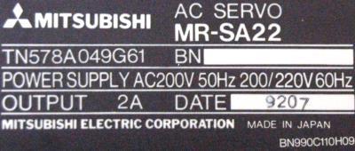 Mitsubishi MR-SA22 label image