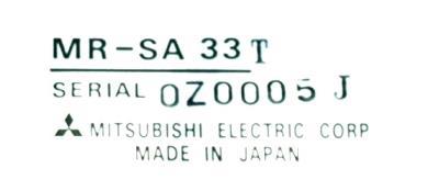 Mitsubishi MR-SA33T label image