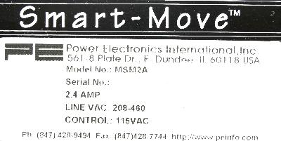 Power Electronics MSM2A label image