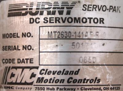 CMC CLEVELAND MOTION MT2630-141AF-R0 label image