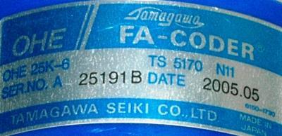 Mitsubishi OHE25K-6 label image