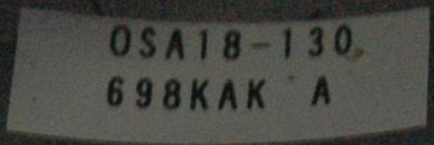 Mitsubishi OSA18-130 label image