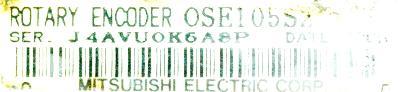 Mitsubishi OSE105S2 label image
