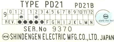 Shindengen PD21B label image