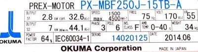 Okuma PX-MBF250J-15TB-A label image