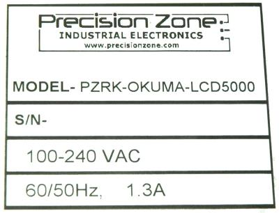 Precision Zone PZRK-OKUMA-LCD5000 label image